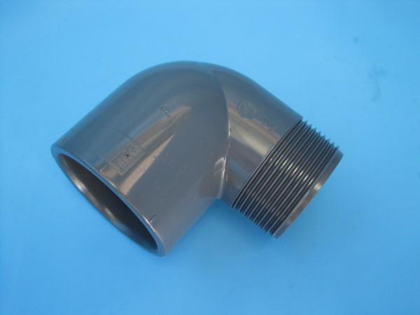 PVC-Klebefitting Winkel 90° Klebeanschluss Innen / Außengewinde